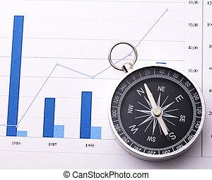 business navigator - business navigation concept with...