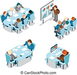 Business negotiations and brainstorming, analysis  creative office work