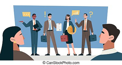 Business negotiations concept