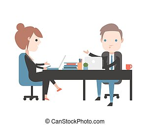 Business negotiations. People at work in the office....