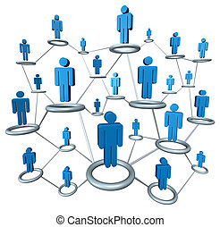 Business Network - Business network linked together by a...