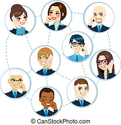 Business Network Concept - Concept illustration of...