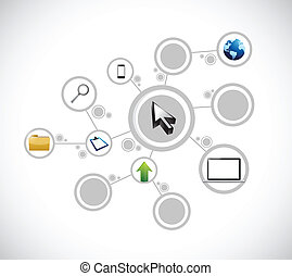 business network connection illustration design