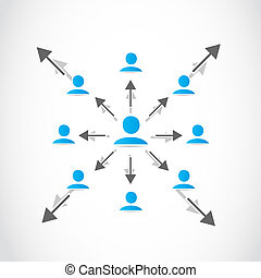Business network crowd
