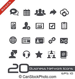 Business Network Icons // Basics - Vector icons for web,...