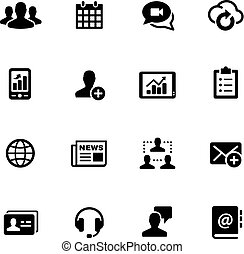Business Network Icons -- Black Series