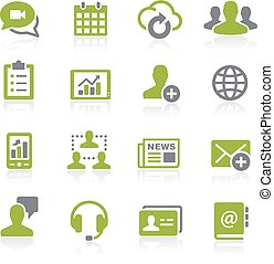 Business Network Icons. Natura