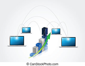 business network illustration design
