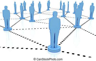 business network man 3d