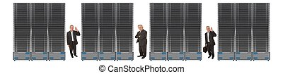 Business Network Of Servers - Business network of giant...