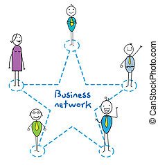 business network star sign man woman and senior