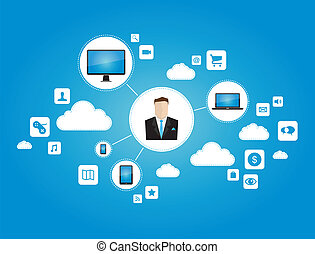 Business networking concept