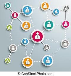 Business Networks PiAd - Infographic design on the grey...
