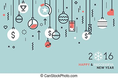 Christmas card business chart and avatars background vector business new year greeting card colourmoves