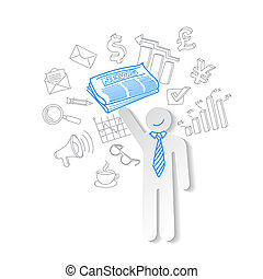 Business news team leader teamwork communication vector