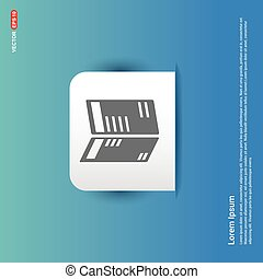 Business newspaper icon - Blue Sticker button