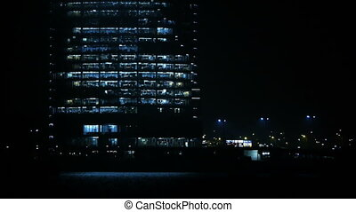business, night., -, centre, hd