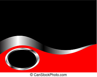 business, noir, carte, gabarit, argent, rouges