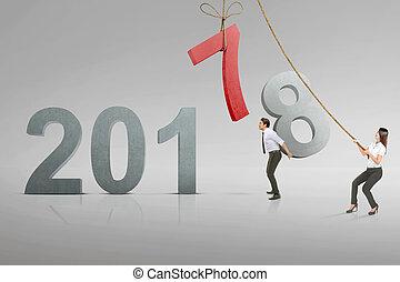 business, nombre, remplacer, asiatique, 7, équipe, 8, remplir, 2018