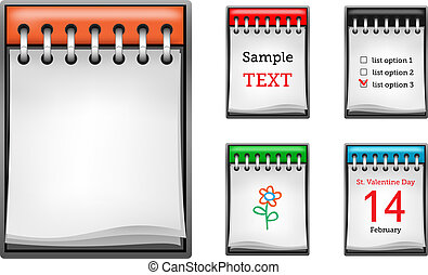 Business notepad isolated on the white background