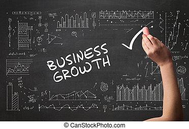 business, nouveau, concept, dessin, main