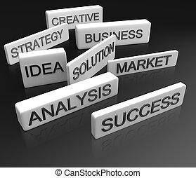 Business objective concept 3d illustration