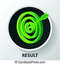 Business objective concept. Successful shot in the darts target.