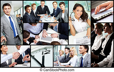 Business occupation - Collage of successful business people...