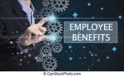 Business offer positive concept (like profit, benefits, personal development, success)