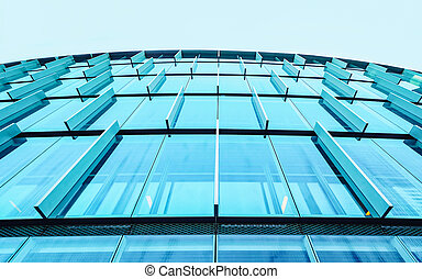 Business office Glass building architecture and Modern City Copy space