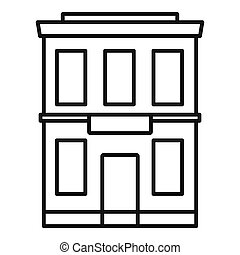 Business office icon, outline style
