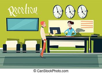Business Office Reception Waiting Room Businesspeople Workplace
