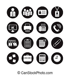 Business Office vector, icon set