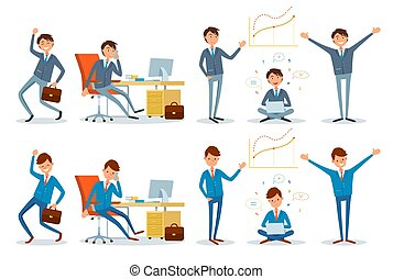 Business Office Worker Talking on Phone Businessman