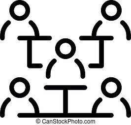 Business online meeting icon, outline style