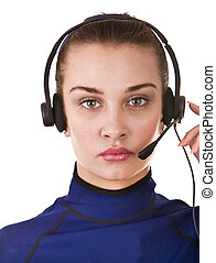 Business operator woman support customer.