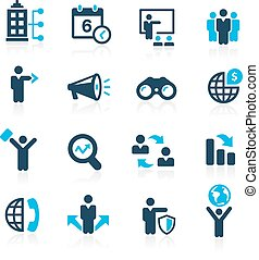 Business Opportunities - Azure - Vector icons for your web...