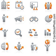 Business Opportunities -- Graphite - Vector icons for your...