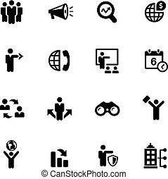 Business Opportunities Icons -- Black Series