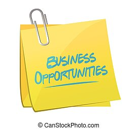 business opportunities memo post