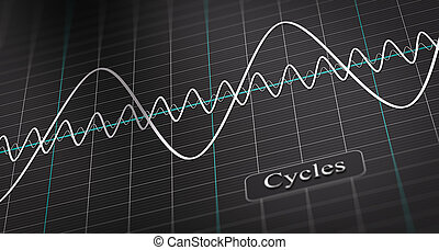 Business or Economic Cycle - 3D illustration of a diagram...