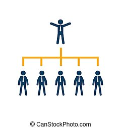 Business organization chart tree company corporate.