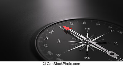 Business Orientation Background, Compass on the Right