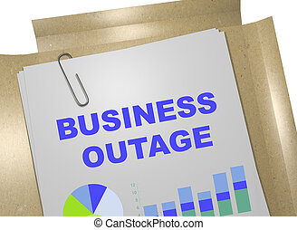 Business Outage concept - 3D illustration of 'BUSINESS ...