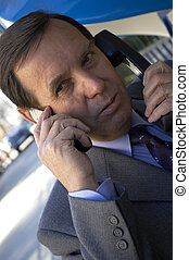 business outside - businessman on the phones