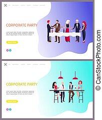 business, ouvriers, équipe, fête, constitué, bâtiment