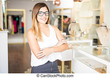 Business owner of a fashion store
