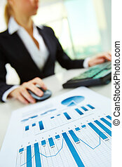 Business paper - Image of business paper on background of...