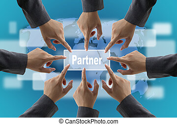 business partner Concept - A diverse business teamwork do...