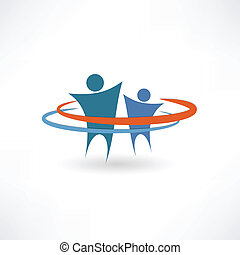 business partners abstract icon